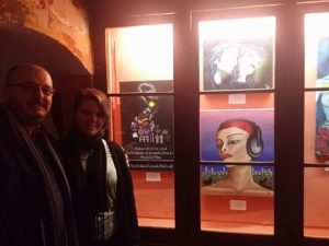 Con Yolanda Curtis, una de las artistas